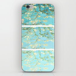 Vincent Van Gogh Almond Blossoms  Panel arT Aqua Seafoam iPhone Skin