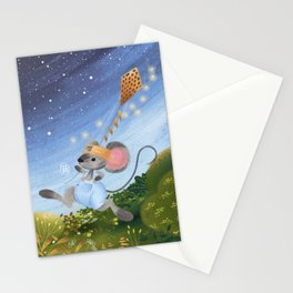 Flying a kite Stationery Cards