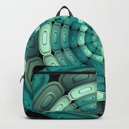 Radial dark turquoise Backpack