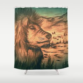 King of the jungle - Dusk Shower Curtain