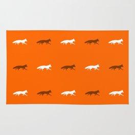 Orange Foxes! Rug
