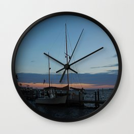 Sitting with the Setting Sun Wall Clock
