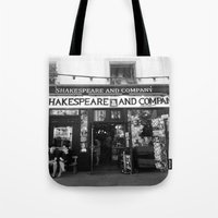 shakespeare Tote Bags featuring Shakespeare Love by MarianaManina