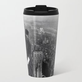 Construction worker Empire State Building NYC Travel Mug