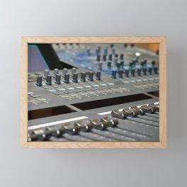 Mixing Console Framed Mini Art Print