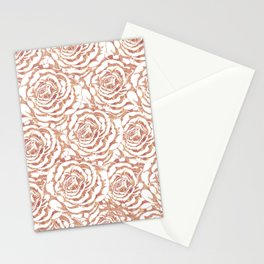 Elegant romantic rose gold roses pattern image Stationery Cards