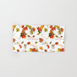 Autumn Leaves Hello Fall! Hand & Bath Towel
