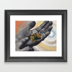 date in space Framed Art Print