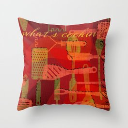 What's Cookin? Throw Pillow
