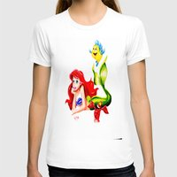 little mermaid T-shirts featuring LITTLE MERMAID by HaMaD ArT