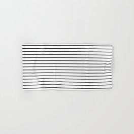 white lines, black and white stripes - striped design Hand & Bath Towel