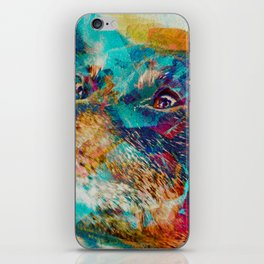 The Dingo wonderdog dreams (Dog Portrait) iPhone Skin