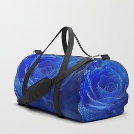 Blue Rose and Sky Duffle Bag