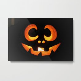 Vector Image of Friendly Halloween Pumpkin  Metal Print