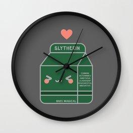 Kawaii Slytherin Wall Clock