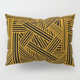 Sketchy Abstract (Orange & Black Pattern) Pillow Sham