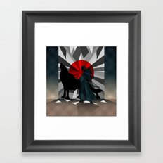 Spirit trapped in mirrors  Framed Art Print