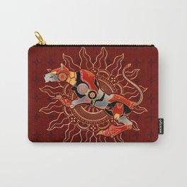 Red Lion Batik Carry-All Pouch
