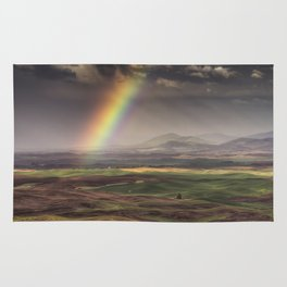 Rainbow over the Palouse Rug
