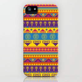vivid mexican pattern iPhone Case