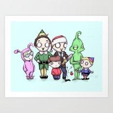 Christmas Boys Art Print