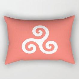Triskele 9 -triskelion,triquètre,triscèle,spiral,celtic,Trisquelión,rotational Rectangular Pillow