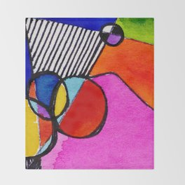 Magical Thinking 7A6 by Kathy Morton Stanion Throw Blanket