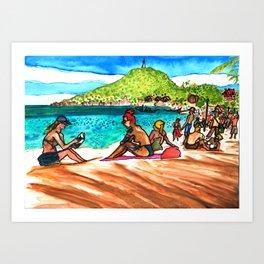 beach vibes haad rin beac thailand Art Print