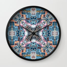 A City With Four Walls Wall Clock