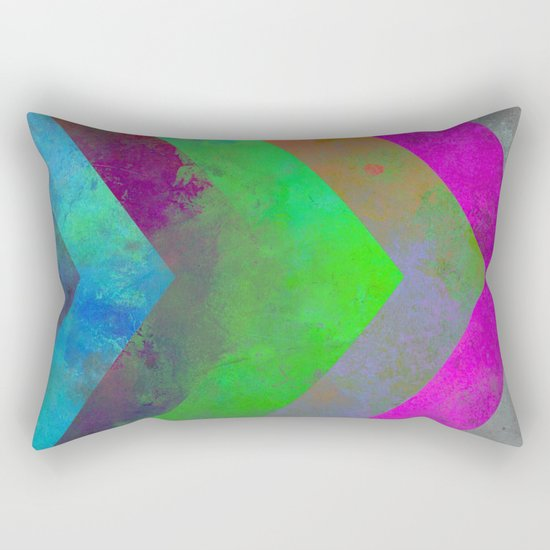 Textured Direction - Abstract, multi coloured, geometric painting Rectangular Pillow