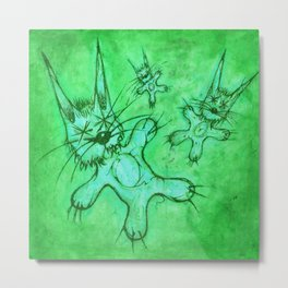 Record Cover for some Jazzed Rabbits, Greenish. Metal Print
