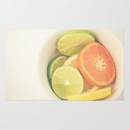 Citrus on White Rug