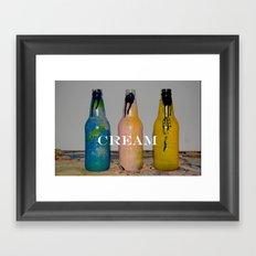 Cream Framed Art Print
