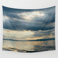 cloud Wall Tapestries featuring CLOUD SHADOWS by Catspaws