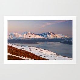 Mountain in Tromso Art Print