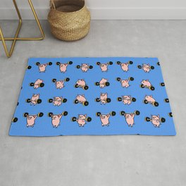 Olympic Lifting Pig Rug