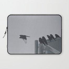 Black Birds in the snow Laptop Sleeve