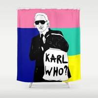 karl Shower Curtains featuring KARL WHO by TEN-iD