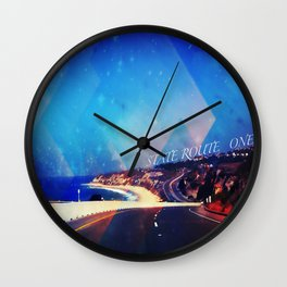 California State Route One Wall Clock