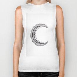 Crescent Mandala Moon Biker Tank