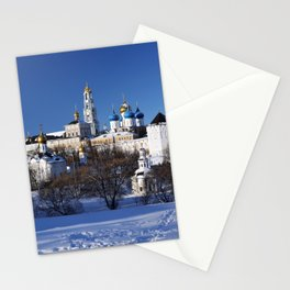 Sergiev Posad monastery (lavra) at sunny winter day Stationery Cards