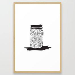 Smiles jar Framed Art Print