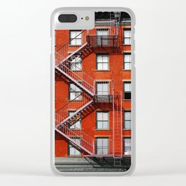 new york city ... fire escape Clear iPhone Case