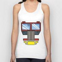 optimus prime Tank Tops featuring Transformers - Optimus Prime by CaptainLaserBeam