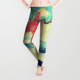 Waking to the Wild and Beautiful Ocean of Dhin Leggings
