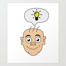 Problem Solving or Brainstorming Tshirt Design Bright idea Art Print