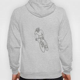 Road Bicycle Racing Doodle Hoody