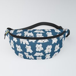 Westies on Blue Fanny Pack