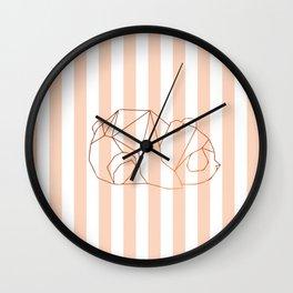 Geometric bear2 Wall Clock