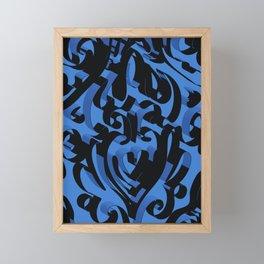 3D Ornamental Background X 4 Framed Mini Art Print
